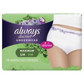 Always Discreet Underwear Maximum - Small/Medium - 19's