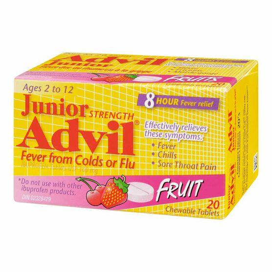 Advil Junior Strength Fever from Colds or Flu Chewable Tablets - Fruit - 20's