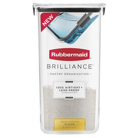 Rubbermaid Brilliance Pantry Canister - Flour - 16 cup