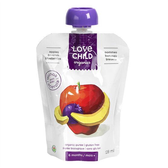 Love Child Apple Bananas Blueberries - 128ml
