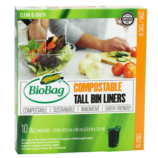BioBag Compostable Kitchen Bags - Tall - 10's