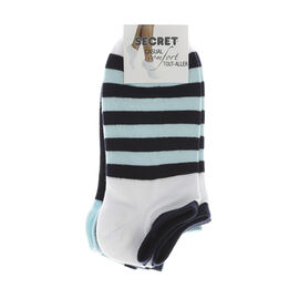 Secret Nautical Low Cut Socks - 3 pair