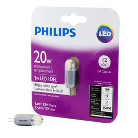 Philips G4 Capsule LED Replacement Bulb - Bright White - 20W