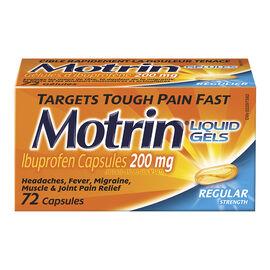 Motrin IB Liquid Gels - 200mg - 72's