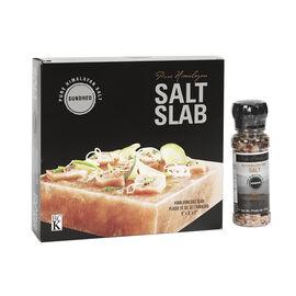 Sundhed Pure Himalayan Salt Slab with Grinder - 4.5kg