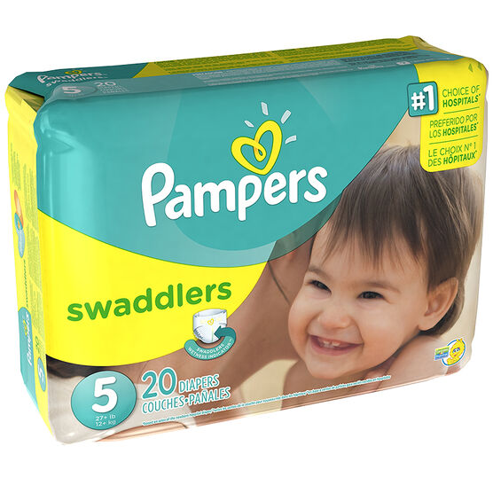 Pampers Swaddlers Diapers - Size 5 - 20's