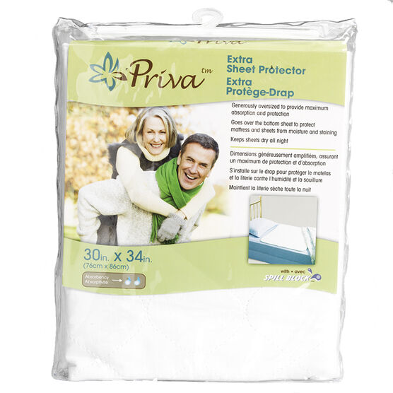 Priva Waterproof Sheet Protector - 30 x 34 inch