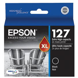 Epson 127 Extra High-Capacity Ink Cartridge - Black - T127120-S