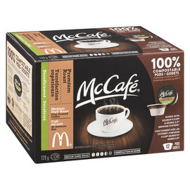 McCafe Coffee Pods - Medium Dark Roast Decaffeinated - 12 pack