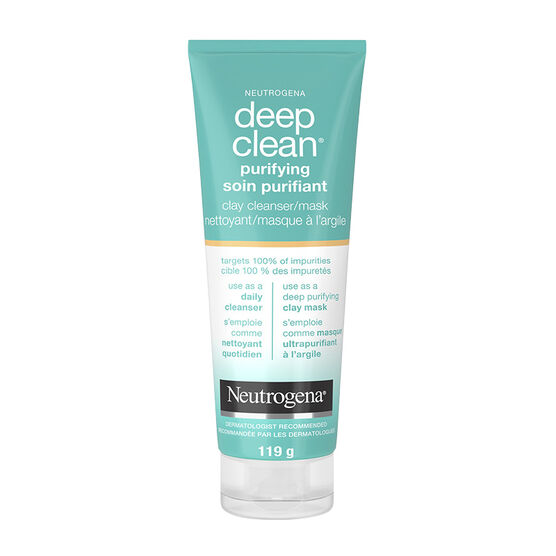 Neutrogena Deep Clean Purifying Clay Cleanser/Mask - 119g