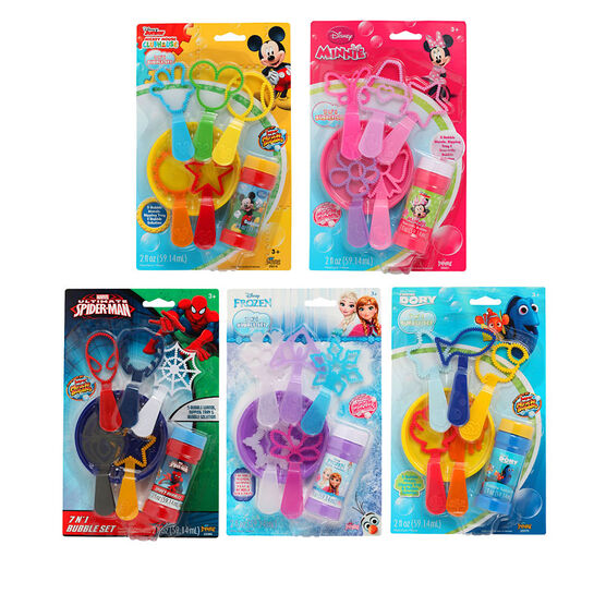 Disney 7-in-1 Bubbles Set - Assorted