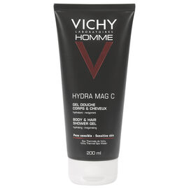Vichy Homme Hydra Mag C Invigorating Hydrating Shower Gel for Body and Hair - 200ml
