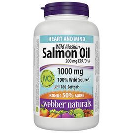 Webber Naturals Wild Alaskan Salmon Oil EPH/DHA- 200mg - 120's
