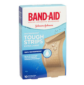 Johnson & Johnson Band-Aid Tough-Strips Waterproof - 10's
