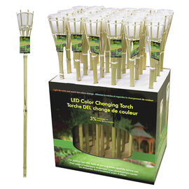 Citronella LED Colour Changing Candle Tiki Style
