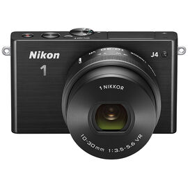 Nikon 1 J4 with 10-30mm Lens - Black - 34252 - Open Box Display Model