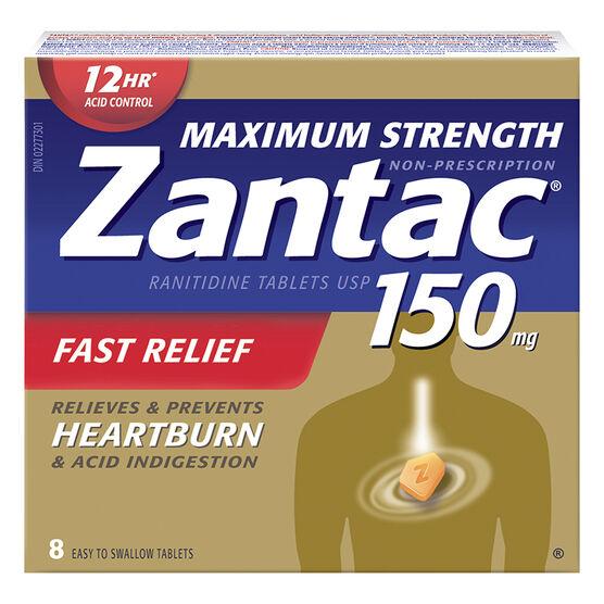 Zantac 150 Max Strength - 8's