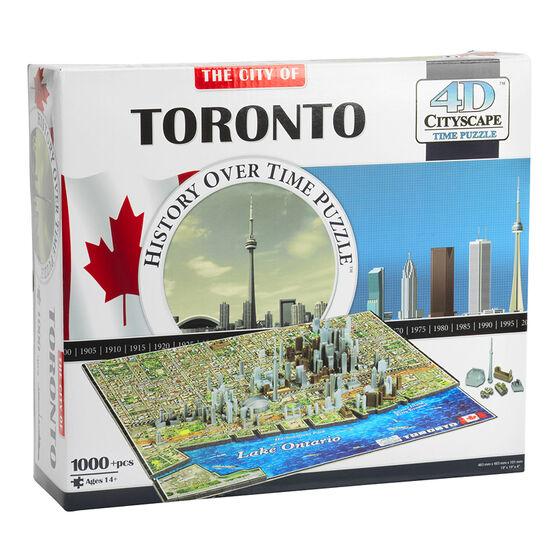 Cityscape 4D Puzzle - Toronto - 1000 piece