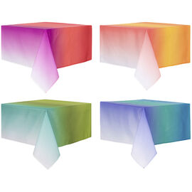 """Boutique Ombre Fabric Tablecloth - 52"""" x 70"""" - Assorted"""