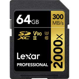 Lexar Professional 1000x SD Card - 64GB - LSD64GCRBNA2000R
