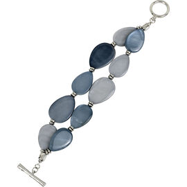 Kenneth Cole Flex Bracelet - Blue/Rhodium