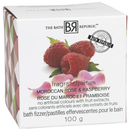 The Bath Republic Bath Fizzer - Moroccan Rose & Raspberry - 100g