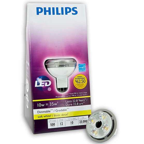 Philips MR16 10w LED Dimmable Light Bulb - Soft White