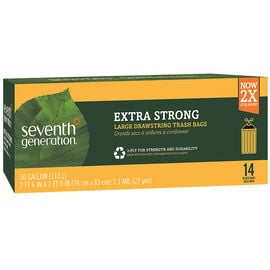 Seventh Generation Extra Strong Trash Bags - 14's/113L