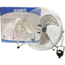 Glacier Commercial Grade High Velocity Floor Fan - 18in - 3 speed