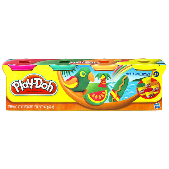 Play-doh Classic Colours Set - 4 pack - Assorted