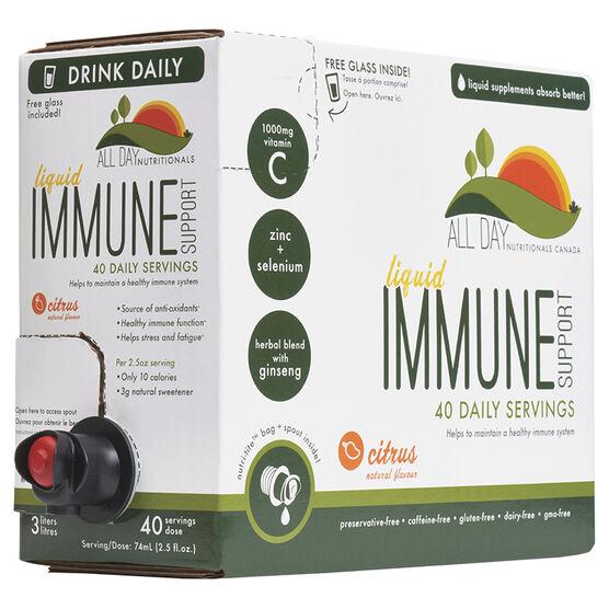 All Day Immune Support Liquid - Citrus - 40 servings