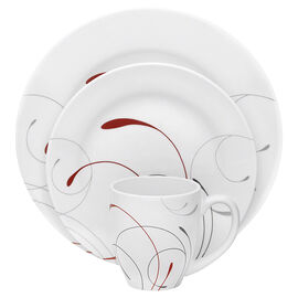 Corelle Imperial Splendor Round Dinnerware Set - Winter White - 16 piece