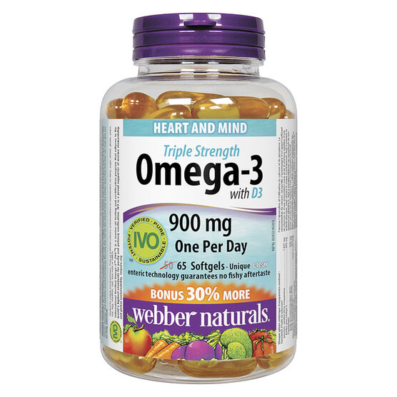 Webber Naturals Triple Strength Omega-3 with Vitamin D - 50's