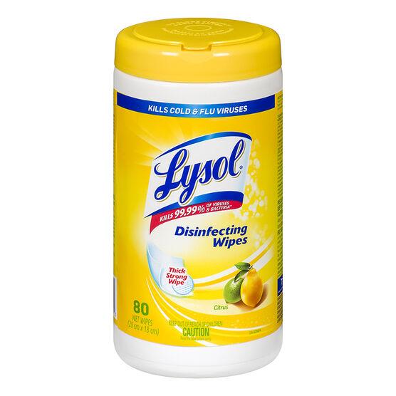 Lysol Disinfecting Wipes - Citrus - 35's