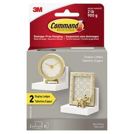 3M Command Display Ledges - White - 2 pack