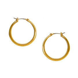 Kenneth Cole Small Shiny Hoop Earrings - Gold Tone