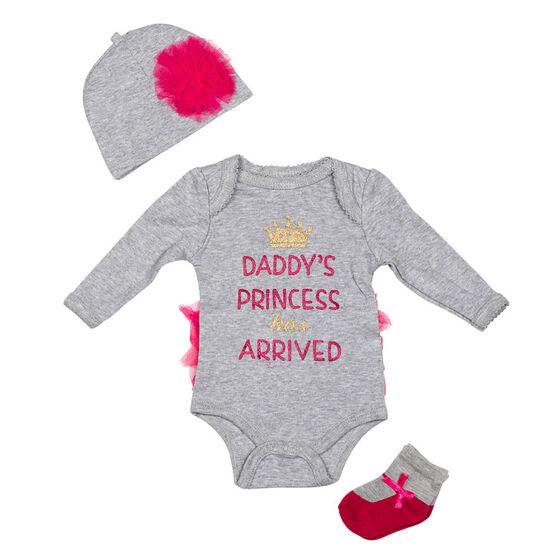 Baby Mode Daddy Princess 3-Piece Onesie Set - 11047 - Assorted