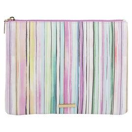 Sophia Joy Medium Stripe Flat Clutch - A013883LDC