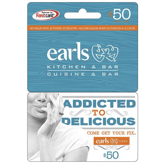 Earls Gift Card - $50