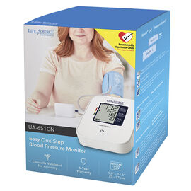 Lifesource Easy One Step Blood Pressure Monitor - UA651CN