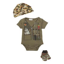 Baby Mode Fishing 3-Piece Onesie Set - 7755 - Assorted