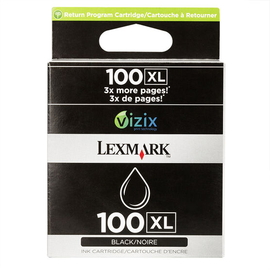 Lexmark 100XL High Yield Return Program Ink Cartridge - Black - 14N1053