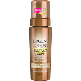 Jergens Natural Glow Instant Sun Sunless Tanning Mousse - Light Bronzer - 180ml