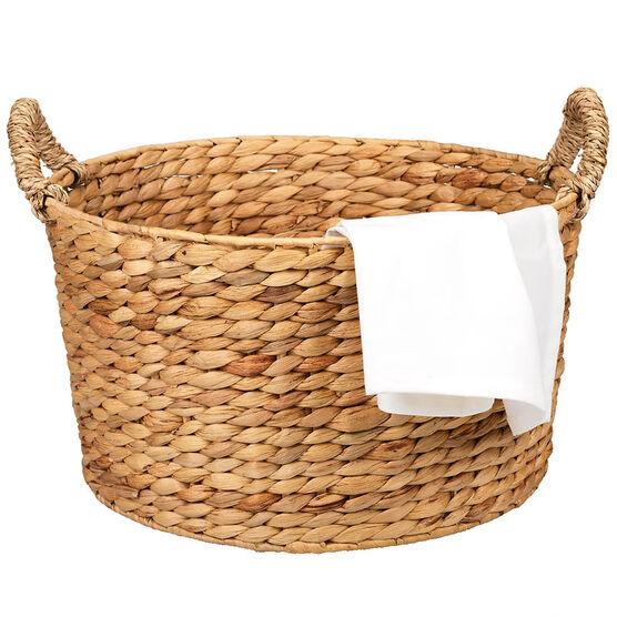 London Drugs Round Weave Basket - 2 Tone
