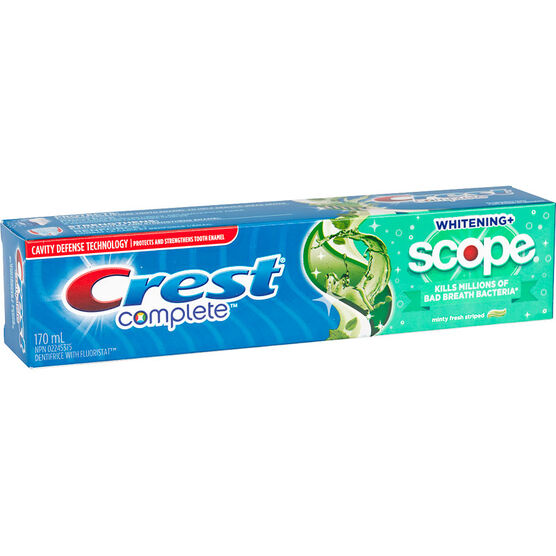 Crest Complete Whitening+ Scope Tooth Paste - Minty Fresh Striped - 170ml
