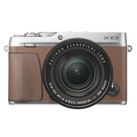 Fujifilm X-E3 with 18-55mm Lens - Brown - 600019994