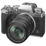 Fujifilm X Series X-T4 Mirrorless Digital Camera - 18-55mm R LM OIS Lens - Silver - 600021582