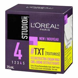 L'Oreal Studio Line TXT Deconstructing Cream Wax - 75ml