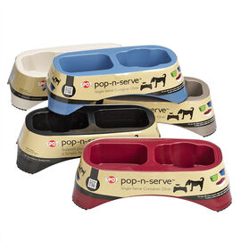 Pop N Serve Pet Dish - Large - Assorted