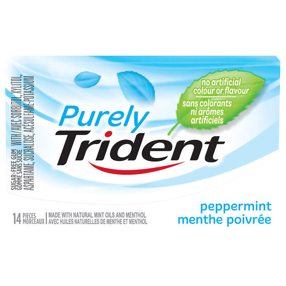 Purely Trident Gum - Peppermint - 14 pieces